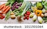 assortment of fresh vegetables | Shutterstock . vector #1011501064