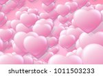 red and pink heart. valentine's ... | Shutterstock . vector #1011503233
