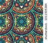 vector seamless pattern ethnic... | Shutterstock .eps vector #1011505384
