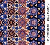 vector seamless pattern ethnic... | Shutterstock .eps vector #1011505540