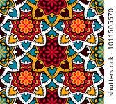 vector seamless pattern ethnic... | Shutterstock .eps vector #1011505570
