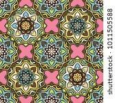 vector seamless pattern ethnic... | Shutterstock .eps vector #1011505588