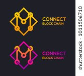 letter m colorful dots logo... | Shutterstock .eps vector #1011506710