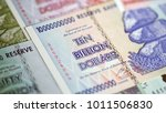 banknotes of zimbabwe after...   Shutterstock . vector #1011506830