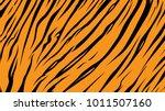 pattern texture tiger orange... | Shutterstock .eps vector #1011507160