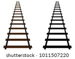 Railway Track Vector Icon ...