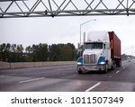 powerful american big rig semi... | Shutterstock . vector #1011507349