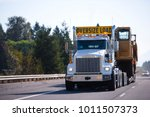 white powerful big rig semi... | Shutterstock . vector #1011507373