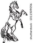 horse tribal tattoo. stallion... | Shutterstock .eps vector #1011509056