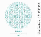 finance concept in circle with... | Shutterstock .eps vector #1011511990