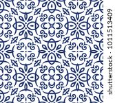 vector arabesque pattern.... | Shutterstock .eps vector #1011513409