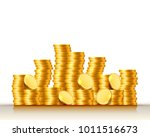 stacks of coins on the white... | Shutterstock .eps vector #1011516673
