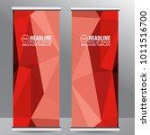 roll up business brochure flyer ... | Shutterstock .eps vector #1011516700