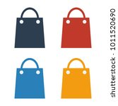 colorful shopping bag icon set... | Shutterstock .eps vector #1011520690