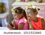 Little Girls Do Makeup Sitting...