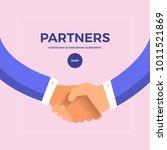 flat design concept partners.... | Shutterstock .eps vector #1011521869