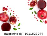 pomegranate juice with fresh... | Shutterstock . vector #1011523294
