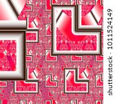 pattern of broken mirrors. 3d... | Shutterstock . vector #1011524149