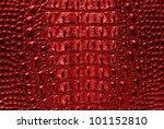 Crocodile Red Bone Skin Textur...