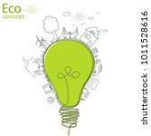 light bulb idea  creative... | Shutterstock .eps vector #1011528616