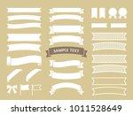 illustration material of ribbon   Shutterstock .eps vector #1011528649
