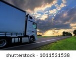 truck transportation on the road   Shutterstock . vector #1011531538