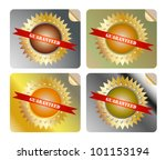 guaranteed label colorful | Shutterstock .eps vector #101153194