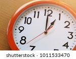 focus time in clock of one o... | Shutterstock . vector #1011533470