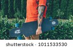 unrecognizable tattoed young...   Shutterstock . vector #1011533530