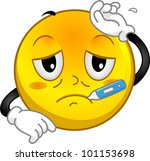 illustration of a sick smiley | Shutterstock .eps vector #101153698