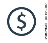 currency  dollar icon | Shutterstock .eps vector #1011540580