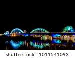 danang  beautiful and lighting... | Shutterstock . vector #1011541093