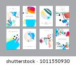 set of creative universal... | Shutterstock . vector #1011550930