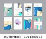 set of creative universal... | Shutterstock . vector #1011550933