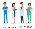 medical characters flat people. ... | Shutterstock .eps vector #1011553768