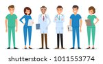 medical characters flat people. ... | Shutterstock .eps vector #1011553774