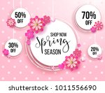 spring season sale offer ... | Shutterstock .eps vector #1011556690