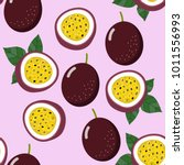 passion fruit seamless pattern | Shutterstock .eps vector #1011556993