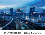 double exposure train track... | Shutterstock . vector #1011561730