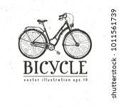 bicycle hand drawn vector... | Shutterstock .eps vector #1011561739