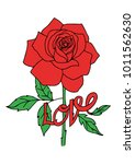 red rose card with the word... | Shutterstock .eps vector #1011562630