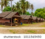 Empty Wooden Bungalows In A...