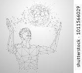 geometric creation man... | Shutterstock .eps vector #1011566029