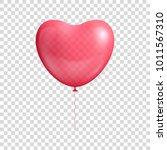 heart balloon realistic. heart... | Shutterstock .eps vector #1011567310