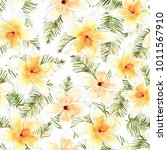 floral seamless pattern with... | Shutterstock . vector #1011567910