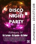 night dance party music night... | Shutterstock .eps vector #1011571108