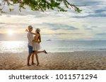couple lover enjoy anniversary...   Shutterstock . vector #1011571294