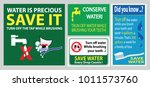 save water brush teeth sign ...   Shutterstock .eps vector #1011573760