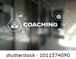 coaching and mentoring on... | Shutterstock . vector #1011574090