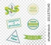 high fiber label collection... | Shutterstock .eps vector #1011575140